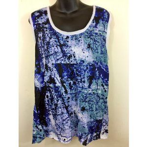 Simply Vera Abstract Brush Crinkle Texture Tank XL